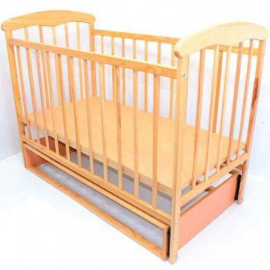 Кроватка деревянная маятник «Наталка» - СВЕТЛЫЙ ЯСЕНЬ