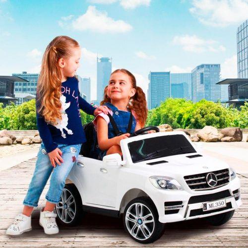 Детский электромобиль M 3568 EBLR-1 (Mercedes ML 350) БЕЛЫЙ фото 2