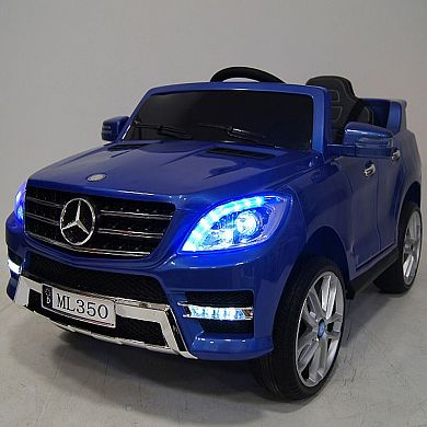 Детский электромобиль M 3568 EBLRS-4 (Mercedes ML 350): 70W, 6 км/ч, EVA, кожа - BLUE PAINT