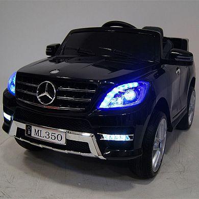 Детский электромобиль M 3568 EBLRS-2 (Mercedes ML 350): 70W, 6 км/ч, EVA, кожа - BLACK PAINT