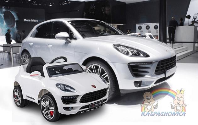 Детский электромобиль Porsche FL1518: 2.4G. EVA-колеса, кожа - БЕЛЫЙ