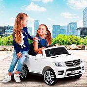 Детский электромобиль M 3568 EBLR-1 (Mercedes ML 350): 70W, 6 км/ч, EVA, кожа - БЕЛЫЙ